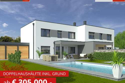 Leombach: Doppelhaushälfte+Grund ab € 305.000,-