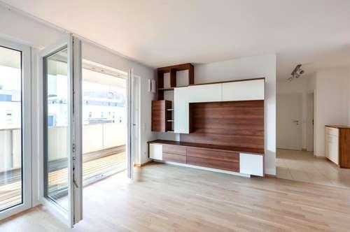 Top 2-Zimmer-Wohnung mit 20 m² Balkon + 2x TGPlatz