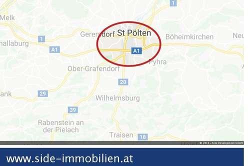 St. Pölten Süd   Gewerbegrundstücke ab ca. 1.500 m² in A1-Nähe langfristig zu mieten (Baurecht möglich)
