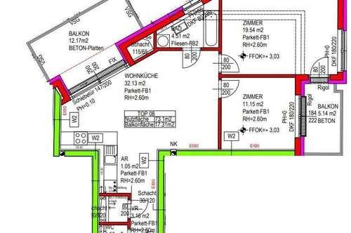 """""""PROVISIONSFREI - 3-Zimmer-Wohnungen mit großem Balkon und Autoabstellplatz - Top 8"""""""