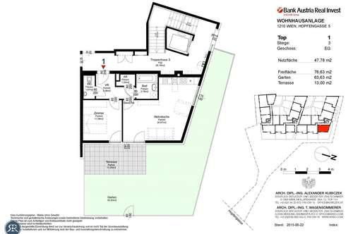 2-Zimmer im EG mit Garten/Terrasse - Top 301 - Bezug: August 2019
