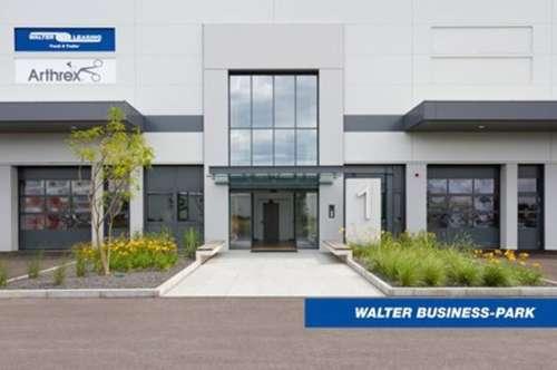 Hochwertig ausgestattetes Büro (342 m²) inkl. Loggia & multifunktionelle Lagerfläche (420 m²), provisionsfrei - WALTER BUSINESS-PARK