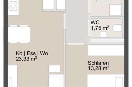 Schöne helle Erstbezugswohnung nähe Murpark   2 Zimmer mit Küche - ab sofort zu mieten!