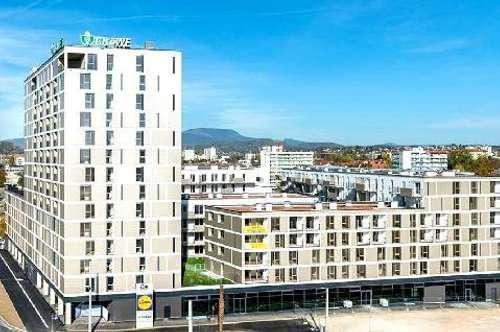 55m²   2-Zimmer Erstbezugswohnung   Küche + Balkon   TG-Platz   ideale Infrastruktur und Anbindung