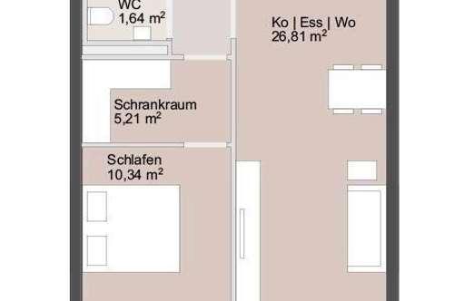 Hübsche 55m² Erstbezugswohnung mit Schrankraum, Balkon & Küche   ab sofort beziehbar!