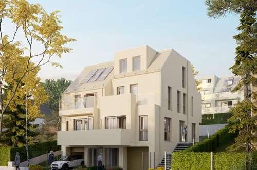 Erstbezug, moderne ruhige Haushälfte in Grünruhelage mit Garage und Garten