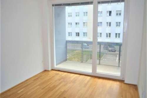 RUHELAGE! schöne 46 m2 Neubau inklusive 6 m2 Loggia, 2 Zimmer, Komplettküche, Duschbad, Parketten, Widerinstraße