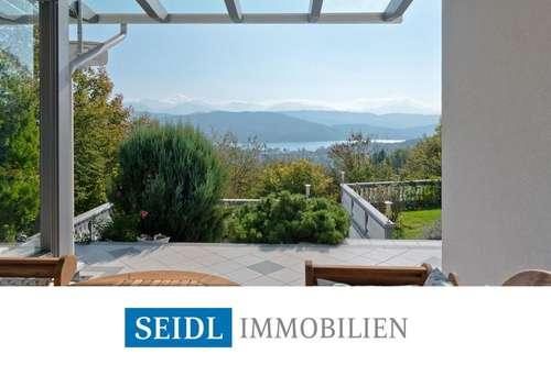 Villa mit See- und Karawankenblick