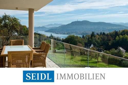 Extravagante Seeblick-Villa in Naturlage