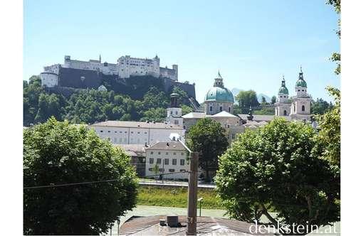 fantastischer Ausblick! gemütliche 3 Zimmer Stadtwohnung mit Parkplatz an der Salzach Salzburg Stadt