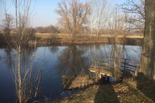 Rarität, Wasserweiher mit Grundstück und Hütte