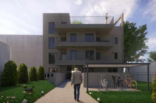 PROVISIONSFREI, Großzügige 2-Zimmerwohnung mit überdachter Terrasse & Eigengarten, Neubauprojekt