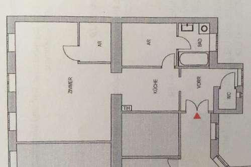 Schöne Altbau-Wohnung, 1,5 Zimmer, 56m², 2.Stock (kein Lift), sehr gute Infrastruktur, 9 Min zur U3, nur schriftl. Anfragen!