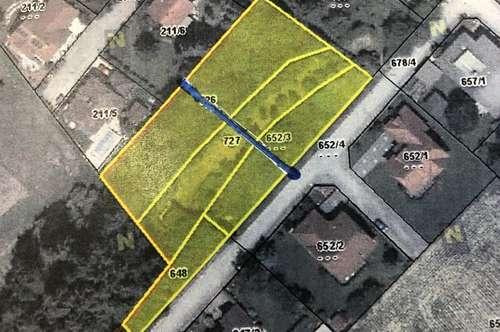 Baugrundstück und Grünland - Aufteilung auf 2 Grundstücke