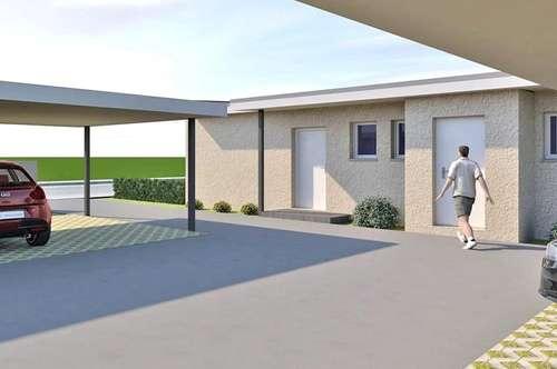 Ziegelmassive Doppelhaushälfte mit Garten