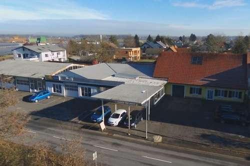 Autohaus mit Wohnhaus am Stadtrand