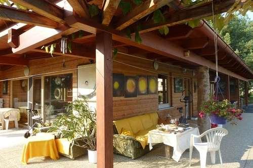 Sonniger, moderner Holzbungalow in Ruhelage