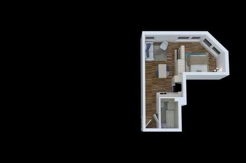 NEUBAU, 36m²  ZWEI-ZIMMER WOHNUNG MIT 15m2 GARTEN