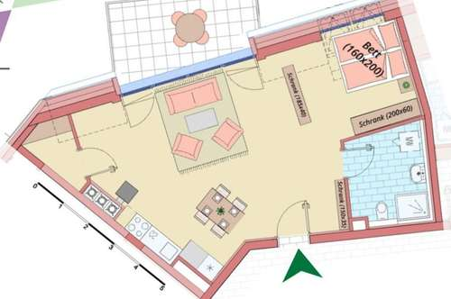 ABSOLUT NEU - Loftwohnung mit großer Terrasse und Garagenplatz