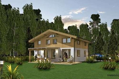 Niedrigenergiehaus in Massiv-Holzbauweise