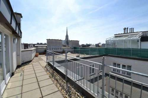 Penthhouse arranged over two floors with large terrace!
