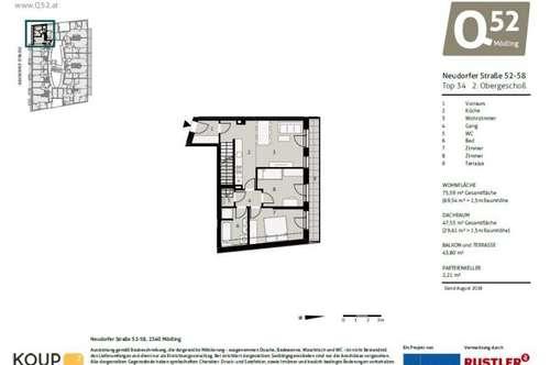 ERSTBEZUG - Dachgeschoßwohnung mit Dachterrasse
