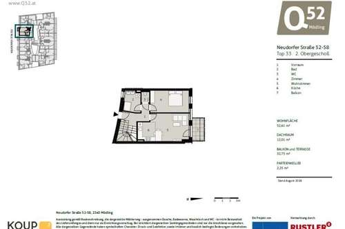 NEUBAUPROJEKT - Traumhafte Dachgeschoßwohnung mit Terrasse