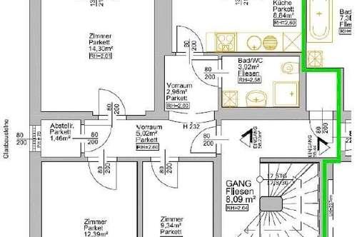 8045 Graz: Gut geschnittene 3-Zimmer-Wohnung in sonniger Lage!