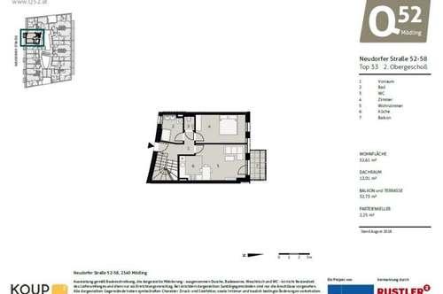 ANLEGERHIT! 2-Zimmer Neubauwohnung mit Dachterrasse