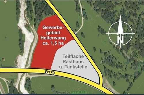 Heiterwang: Baurecht im Bereich der Gewerbefläche am östlichen Ortsrand
