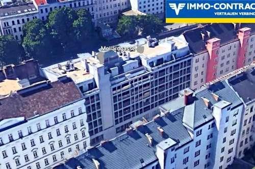 Vorankündigung : Helle Neubauwohnung im letzten Liftstock -  Westsonne am großen Balkon (20m²)