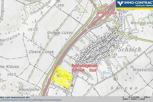 20.000m²  BETRIEBSGRUND, SCHRICK-SÜD  € 39,00/m², Grundstücksgröße bestimmt der Kunde