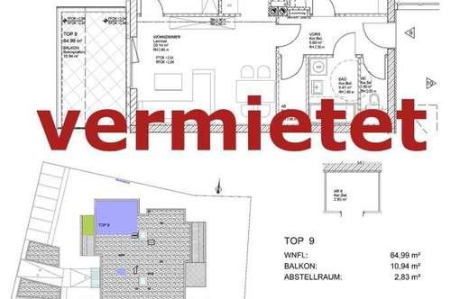 VERMIETET! Gefördertes Wohnen für Jung & Alt. Haus 1,Top 9 (provisionsfrei)