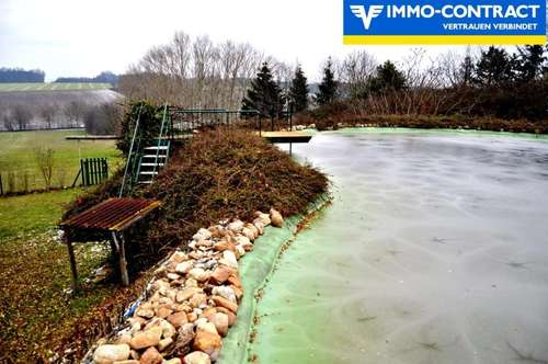 Schwimmen Sie gerne? - Sehr ruhige Aussichtslage mit großem Schwimmteich im Grünen, uneinsehbar!