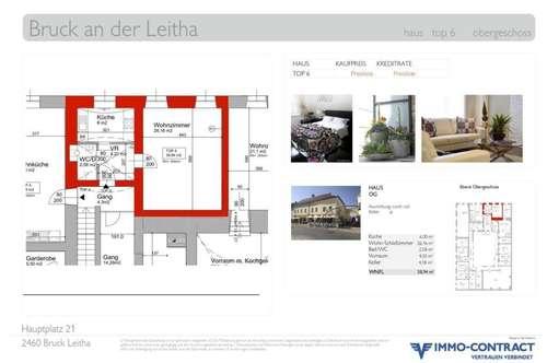 Direkter Blick auf den Hauptplatz. Eigentumswohnung in generalsaniertem Stadthaus, Top 6.