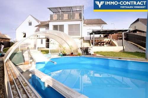 Ideal für Familien - Pool, Sauna, Garten, Terrassen, Wintergarten und viel Platz im Haus!