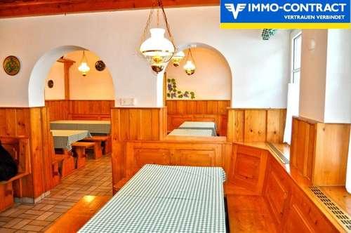 Heurigen-Restaurant mit Hof und Garten, zwei Wohnungen im Nebentrakt - Sehr gut und schön ausgestattet