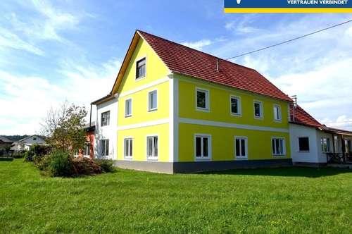 Großes Haus mit viel Platz und sehr großer Werkstatt in grüner, ländlicher Umgebung