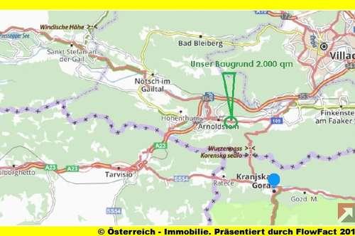 bei Arnoldstein/KÄrnten: 2.000 m² Baugrund - ideal die Wohn-betriebliche Nutzung an der B 83-1839