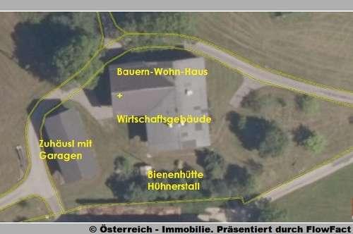 12 km Salzburg : Bauernhof + Bauplatz in Panorama-Lage, 5,5 ha - 1771