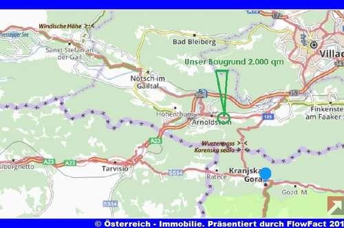 Kärnten-Drei-Länder-Eck: 2.000 m² Baugrund - ideal die Wohn-betriebliche Nutzung an der Bundesstraße-1838