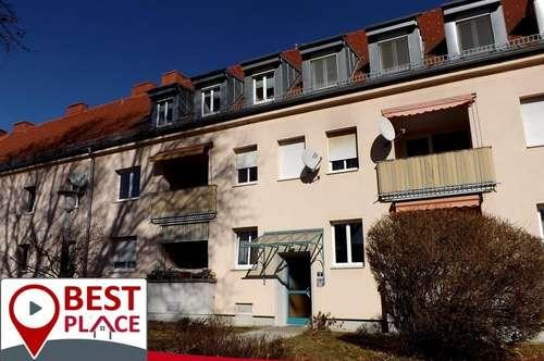 Klagenfurt St. Peter: Ruhiges 3 Zimmer Dachgeschoß in super Zustand