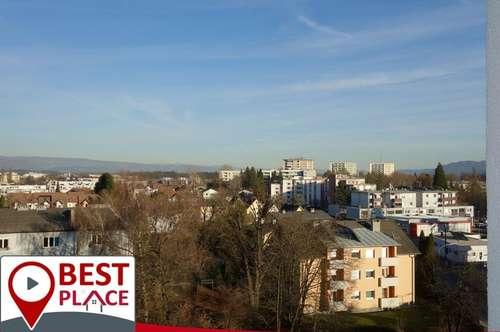 Gepflegte Wohnung mit Ausblick über Klagenfurts Dächer
