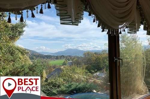 VELDEN am WÖRTHERSEE: Landhausvilla am Waldrand,! Sonnig, Traumhafter Blick auf den Wörtersee
