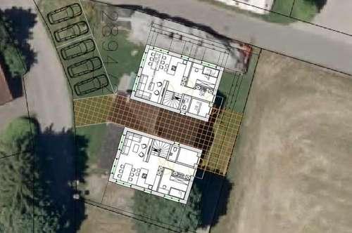 Baugrund ca. 305m² für Doppelhaushälfte mit ca. 118m² Wohnfläche in Meiningen! Haus 1