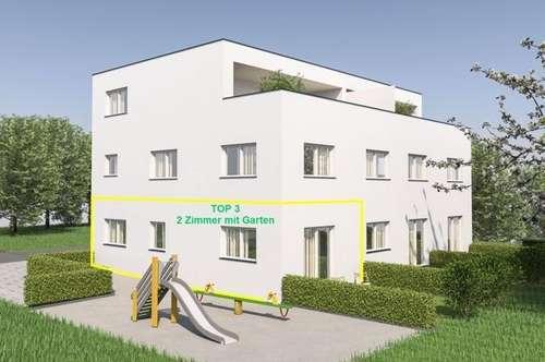 NEUBAU: 2 Zimmerwohnung mit ca. 46m² Wfl. und Gartenanteil in Gisingen! Top 3