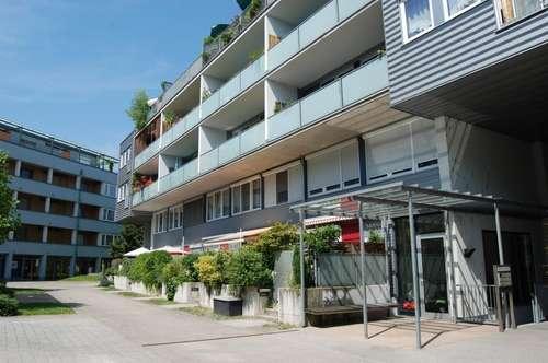 Freizeitaktivitäten in Alt-Urfahr vor der Haustür, geförderte sonnige 2 Zimmerwohnung mit großer verglaster Loggia - Übernahme Landesdarlehen möglich!