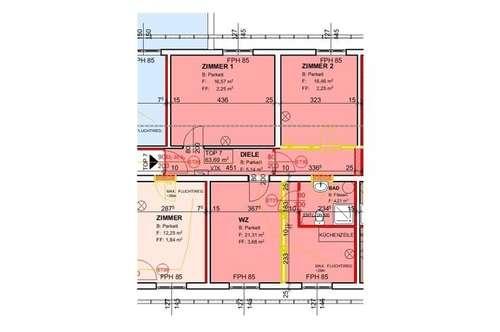 Demnächst: Neu sanierte Mietwohnung (Top 7) mit ca. 63,69 m² in der Nähe von Ternitz!