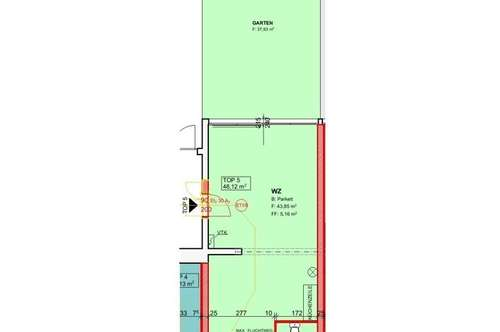 Demnächst: Neu sanierte Mietwohnung (Top 5) mit ca. 48,12 m² + Garten in der Nähe von Ternitz!