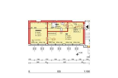 Demnächst: Neu sanierte Mietwohnung (Top 9) mit ca. 35,51 m² in der Nähe von Ternitz!
